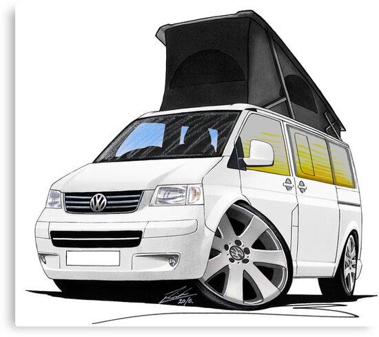 VW T5 California Camper Van White by Richard Yeomans