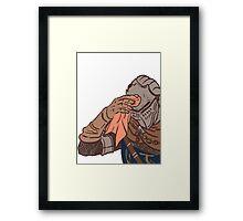 Medieval sweating towel guy Framed Print