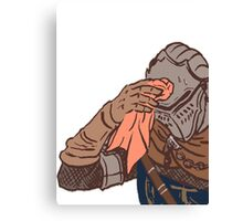 Medieval sweating towel guy Canvas Print
