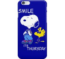 Penauts Smile is Thursday iPhone Case/Skin