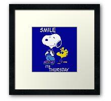 Penauts Smile is Thursday Framed Print