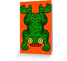 Aztec Frog Greeting Card