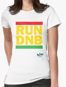 RUN DNB Design - R Womens Fitted T-Shirt