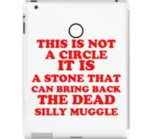 This is not a Circle Resurrection Stone iPad Case/Skin