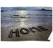 Home: Yellow Craigs beach in East Lothian, Scotland Poster