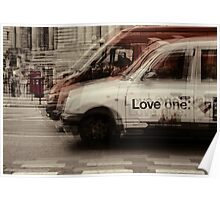 love london cabbies Poster