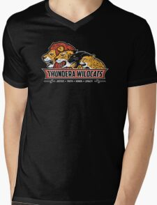 Thundera Wildcats Mens V-Neck T-Shirt