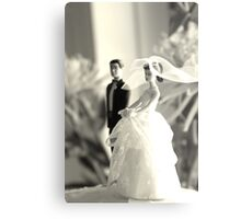 The Groom Stands Humbly in the Background Metal Print
