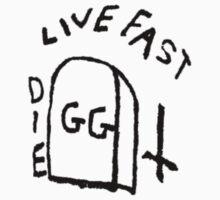 GG Allin Live Fast Die Tattoo by GuitarManArts