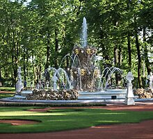Fountain in the summer garden of St. Petersburg by mrivserg