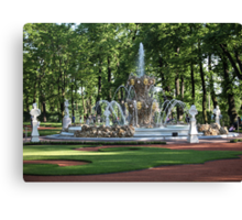 Fountain in the summer garden of St. Petersburg Canvas Print