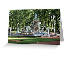 Fountain in the summer garden of St. Petersburg Greeting Card