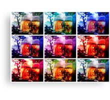Warholic Beergarden Sunlight Remix Canvas Print