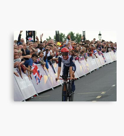 Elizabeth Armitstead Team GB - Womens Time Trial - London 2012 Canvas Print