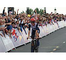 Elizabeth Armitstead Team GB - Womens Time Trial - London 2012 Photographic Print