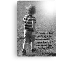 """""""Psalm 119:32""""  by Carter L. Shepard Canvas Print"""
