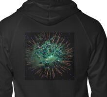 Green and Gold Firework Zipped Hoodie
