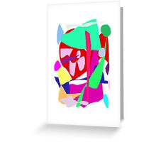 Red Chaos Creation God Power Elements Greeting Card