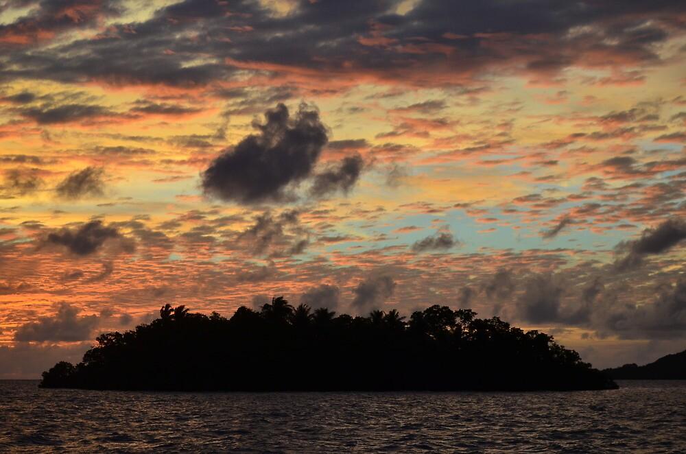 Airai Sunset, Palau by Randy Richards