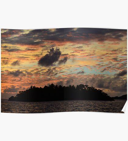 Airai Sunset, Palau Poster