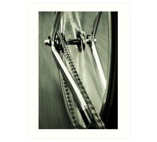 Single Speed at Speed Art Print