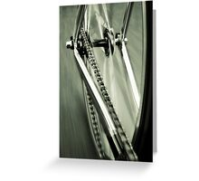 Single Speed at Speed Greeting Card