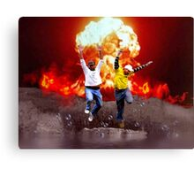 Cool Guys Don't Look at Explosions Canvas Print