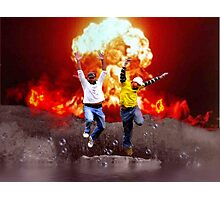 Cool Guys Don't Look at Explosions Photographic Print
