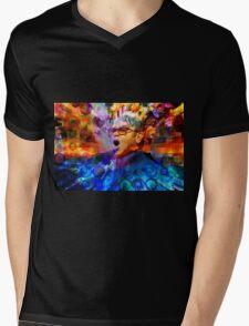 Elton John Mens V-Neck T-Shirt