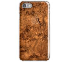 Walnut wood cover iPhone Case/Skin
