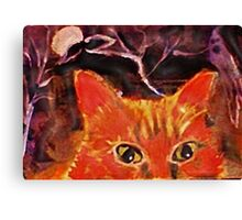Spooky out here , Mom,!!  watercolor Canvas Print