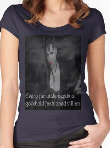 Once Upon A Time - Evil Queen - Every fairytale needs a good old fashioned villain Women's Fitted Scoop T-Shirt