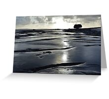 After the rain, the Burren in bright sunlight, Co Clare, Ireland Greeting Card