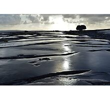 After the rain, the Burren in bright sunlight, Co Clare, Ireland Photographic Print