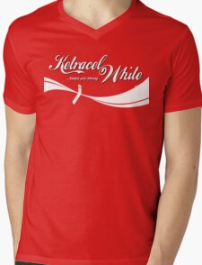 The White Makes You Strong Mens V-Neck T-Shirt