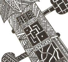 Violin / Cello Scroll Zentangle Drawing Sticker
