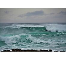 The Wild Atlantic Ocean of the coast of Doolin, Co Clare, Ireland Photographic Print