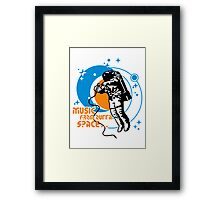 Music from outta Space Framed Print