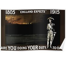 England expects Are you doing your duty to day1805 1915 Poster