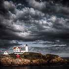 Nubble Lighthouse by Barbara Ingersoll