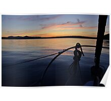 Sailing of Gabriola Island by Vancouver Island, British Columbia, Canadada Poster