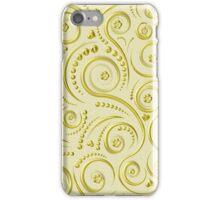 Gold swirls iPhone Case/Skin