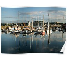 Scarborough harbour in evening light No 3 Poster