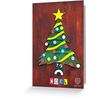 Noel License Plate Art Greeting Card