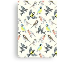 Illustrated Birds Canvas Print