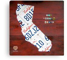 California License Plate Map Canvas Print
