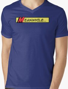 Meanwhile (comic book graphic) Mens V-Neck T-Shirt