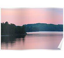 Lakeside Sunset  Poster