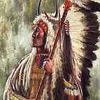 Mato Tope Four Bears, Native American Art, James Ayers Studios by JamesAyers