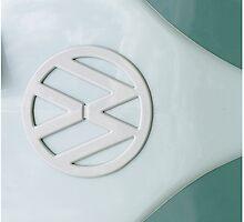 Aqua Vintage VW by KitKatGibbs
